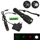 2000LM LTS LED Tactical Grün Rot Laser  Taschenlampe Torch Lampen Zoom 18650 AAA