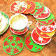 Insulation Coasters Cup Mat Christmas Drinks Cup Mat Home House Decor Good Gift