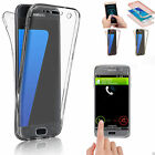 Shockproof TPU 360° Protective Clear Rubber Soft Case Cover For Samsung & iPhone