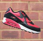 Nike Air Max 90 LTR (GS) Junior Women's Gym Red/Black/Crimson Size 4 5 6 UK NEW!