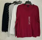 Women's Tommy Hilfiger Long Sleeve Crew Neck Sweater Various Size Color **NWT**