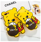 3D Cartoon Disney Animal Yellow Silicone Rubber Gel Soft Case Back Cover F phone