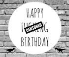 RUDE PERSONALISED STICKERS Adult Birthday Sweet Cones Bags Seals Thankyou Labels