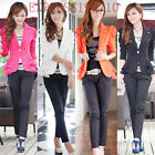 Hot Womens Business Candy Suit Office Long Sleeve Blazer Jackets Coat Size S-6XL