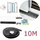 10M Door Window Frame Draught Excluder Brush Pile Insulation Seal Weather Strip