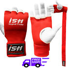Boxing MMA Inner Gloves with Hand wraps Bandages Gel Foam Padded Muay Thai Red