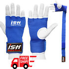 Inner Gloves with hand wraps Gel Padded Foam Boxing Muay Thai MMA Bandages Blue