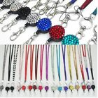 SAFETY BREAKAWAY  NECK RHINESTONE  LANYARD& RETRACTABLE ID NAME BADGE REEL