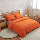 QUALITY PLAIN DYED ORANGE DUVET SETS, CURTAINS AND ACCESSORIES