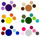 "-:- Felt Circles - 1cm (⅜"") x45 - Iron-On or Plain - Crafts etc. 30+ Colours"