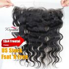 7A Lace Frontal Brazilian Virgin Remy Human Hair Body Wave Lace Closures 13x4""