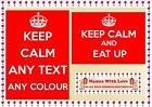 """Large A4 Personalised Keep Calm and """"Add your own Text"""" Poster Birthday Gift"""