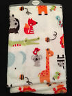 BABY BOYS GIRLS SUPER SOFT BLANKET WRAP GIFT 75x75 WILD ZOO ANIMALS LION GIRAFFE