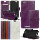 "For ZTE Blade A610 V6 Max Voyage 4 5.0"" Crazy Horse PU Leather Case Cover Flip"