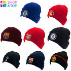 FOOTBALL SOCCER CLUB TEAM FC HAT CAP KNITTED TURN UP BEANIE OFFICIAL LICENSED
