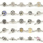 Hot Crystal on 316L Stainless Steel Charms Spacer Beads for Womens DIY Bracelets