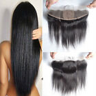 "13x4"" Brazilian Straight Virgin Human Hair Silk Base Ear to Ear Frontal Closure"