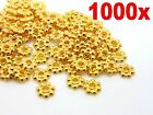 1000Pcs Gold Plated Daisy Spacer Beads Jewellery Craft Bead Findings 4mm & 6mm