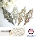 High Quality Beaded Pearl Bridal Diamante Motif Rhinestone Wedding Applique 5