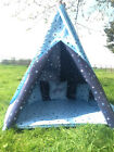STARS DESIGN TEEPEE. CHILDRENS WIGWAM INDOOR/ OUTDOOR GARDEN PLAY TENT WATERPROF