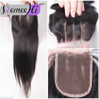 "3.5""x4""  Brazilian Straight  Virgin Human Hair Top Lace Closure Bleach knots"