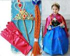 FROZEN DRESS ELSA ANNA PRINCESS DRESS KIDS COSTUME PARTY FANCY SNOW QUEEN*