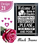 PERSONALISED ENGAGEMENT PARTY PHOTO BOOTH SIGN - ENGAGEMENT DECORATION BANNER