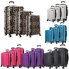 Hard shell 4 Wheel Travel Spinner Luggage Leopard Light weight 20''/24''/28''