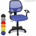 Children's Swivel Computer Study Desk Chair Mesh Backrest Height Adjustable Seat