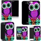 hard back case cover for many mobiles - purple mozaic owl