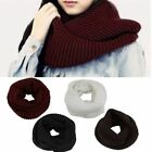 2 Circle Knit Fashion Long Cable Neck Warm Scarf Winter 4 Colors Women's
