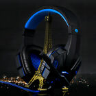 Gaming Headset Headband Headphone 3.5mm LED W/Mic Surround Stereo for PC LOT #KN
