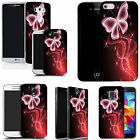 hard slim case cover for many mobiles -  pink sparkle butterfly
