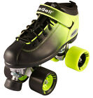 NEW! Riedell Dart 2 Tone Blk & Green Ombre Quad Roller Speed Skates Kids & Adult