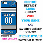 Detroits Lions Phone Case Cover iPhone 7 7+ 6 6PLUS Samsung iPod LG Name & No