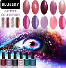 BLUESKY Gel Nail Polish Glitter Collection - free cleanser wipes offer - 10ml