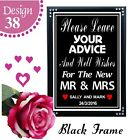 GUEST BOOK SIGN VINTAGE CHALKBOARD STYLE PERSONALISED WEDDING ADVICE SIGN
