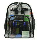 Heavy Duty Clear Backpack Transparent PVC Bookbag See Through Daypack School Bag