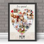 Personalised Mum Mothers Day Word Photo Picture Art Print Poster N123 (unframed)