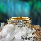Women Diamond Engagement Ring 14k Solid Gold 0.97 CT SI/I-J Size 6 Enhanced