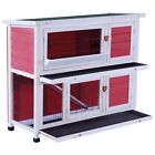 """40"""" Sturdy Wooden Chicken Coop Rabbit Hutch Small Animal House Pet Cage 0323L"""