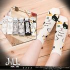 Japan lolita cartoon fantasy Cats VS Dogs standing body ankle socks【JMA7041】