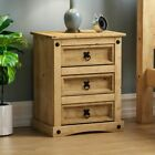 3 Drawer Bedside Chest Panama Corona Mexican Solid Waxed Pine Bedroom Furniture <br/> NEXT DAY DELIVERY IF ORDERED BY 2PM - CHEAPEST ON EBAY