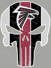 "Atlanta Falcons Punisher Full Color Vinyl UV Sticker Decal Car Truck 5""-11"" AFP1 on eBay"