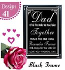 PERSONALISED WEDDING FATHER OF BRIDE THANK YOU LOVE YOU BRIDE WEDDING SIGN