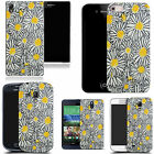 hard durable case cover for most mobile phones - yellow luring daisy