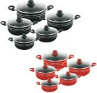Sq Professional 5 Pc Ceramic Coated Non Stick Cooking/Casserole Pot Set 4 Colour