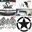5 color Scorpion sexy women lady angel Five Star Engine Hood car stickers decals