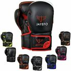 Leather Boxing Gloves Muay Thai Training Punching Bag Sparring Gloves MMA jayefo