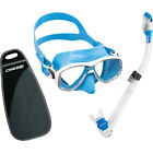 Cressi Snorkeling Gear, Marea Mask Dry Snorkel Set with Bag - Italian Quality